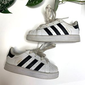 Adidas Infant Classic Stripe Superstar Sneakers